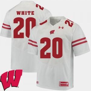 White 2018 NCAA #20 Alumni Football Game James White Wisconsin Jersey Mens