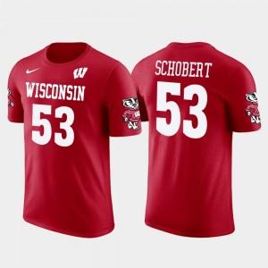 For Men's Future Stars Red Joe Schobert Wisconsin T-Shirt Cleveland Browns Football #53
