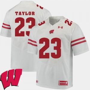 Alumni Football Game Men Jonathan Taylor Wisconsin Badgers Jersey #23 2018 NCAA White