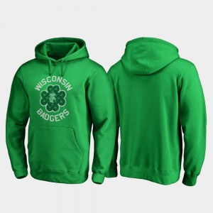 St. Patrick's Day For Men Wisconsin Badgers Hoodie Kelly Green Luck Tradition Fanatics Branded