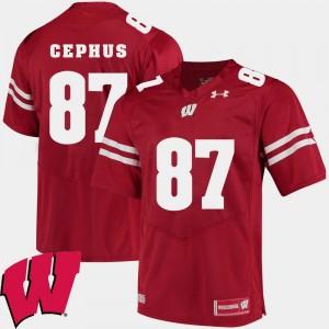 Red Alumni Football Game 2018 NCAA Quintez Cephus Wisconsin Jersey For Men's #87
