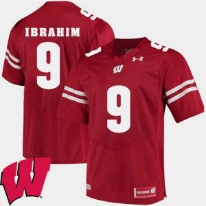 Alumni Football Game #9 2018 NCAA Men Red Rachid Ibrahim Wisconsin Jersey