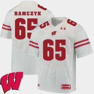 #65 White Alumni Football Game Ryan Ramczyk Wisconsin Badgers Jersey For Men 2018 NCAA
