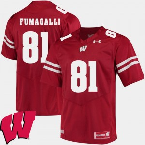 Troy Fumagalli Wisconsin Badgers Jersey Red For Men #81 2018 NCAA Alumni Football Game