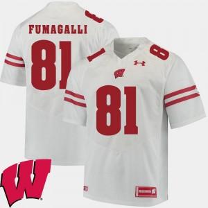 Alumni Football Game #81 For Men's White 2018 NCAA Troy Fumagalli UW Jersey