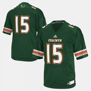 Miami Jersey For Men's College Football #15 Green