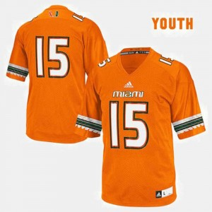 #15 Miami Hurricanes Jersey Kids College Football Orange