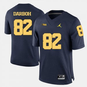 College Football For Men's Navy Blue #82 Amara Darboh Wolverines Jersey
