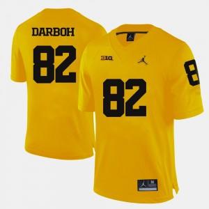 Amara Darboh Michigan Jersey Yellow #82 For Men's College Football