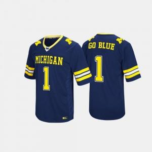 #1 Navy Men's Michigan Jersey Hail Mary II