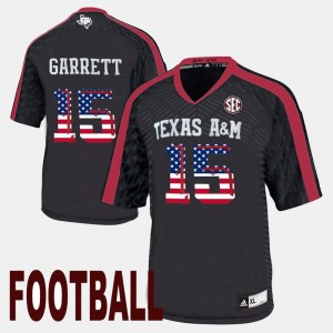 Myles Garrett Texas A&M Jersey US Flag Fashion Black Men's #15