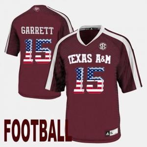 #15 Maroon For Men's Myles Garrett Texas A&M University Jersey US Flag Fashion