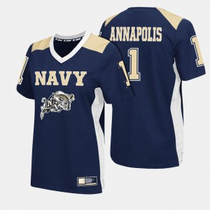 #1 Ladies College Football Midshipmen Jersey Navy