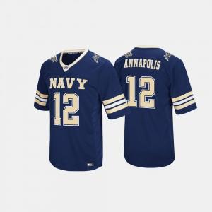 Men Navy Hail Mary II #12 Navy Jersey