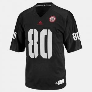 For Men's Black Kenny Bell Nebraska Jersey #80 College Football