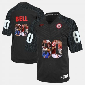 Kenny Bell University of Nebraska Jersey #80 Men's Player Pictorial Black