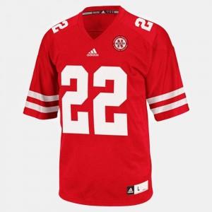 For Men's Red #22 College Football Rex Burkhead Cornhuskers Jersey