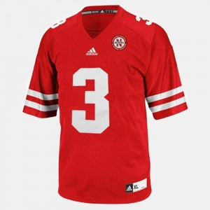 Red #3 College Football Taylor Martinez Cornhuskers Jersey Mens