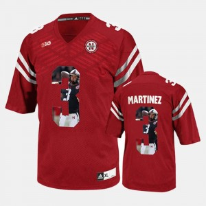 Red Taylor Martinez Cornhuskers Jersey #3 Men Player Pictorial
