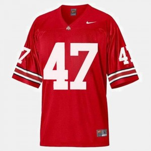 Youth(Kids) #47 College Football A.J. Hawk Ohio State Jersey Red