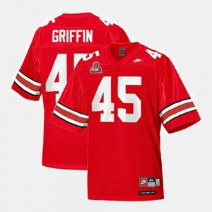 #45 For Men's College Football Archie Griffin Ohio State Jersey Red