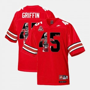 Scarlet For Men's Throwback #45 Archie Griffin Ohio State Buckeyes Jersey