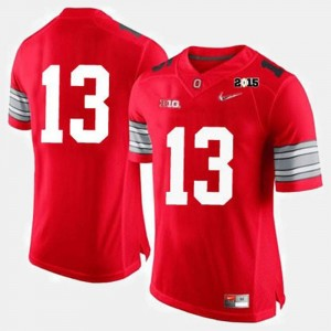 #13 For Men College Football Ohio State Jersey Red