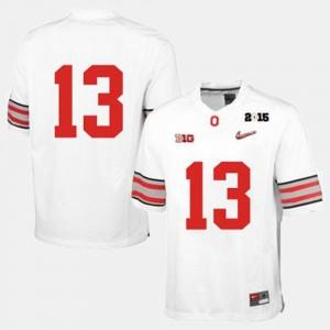 College Football OSU Jersey Men's White #13