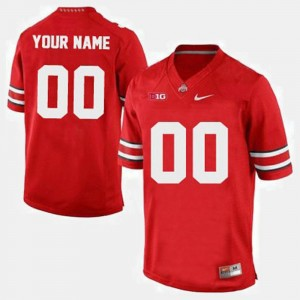 #00 College Football Red Mens Ohio State Custom Jersey