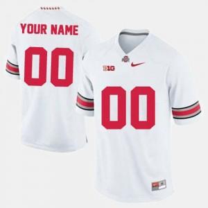 College Football Ohio State Customized Jerseys Men's #00 White