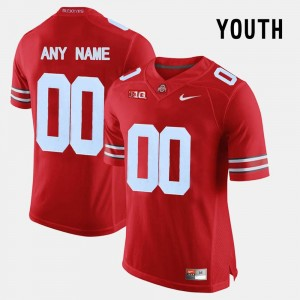 Ohio State Buckeyes Custom Jerseys #00 College Limited Football For Kids Red