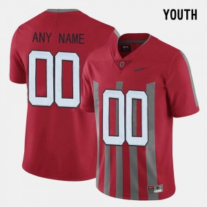 Red Throwback Youth #00 Ohio State Custom Jerseys