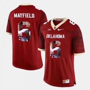 Baker Mayfield OU Sooners Jersey Crimson #6 Men's Player Pictorial