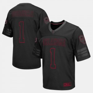 College Football Mens Oklahoma Sooners Jersey #1 Black