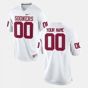 OU Custom Jerseys Men's College Football White #00