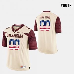 OU Customized Jersey #00 Kids US Flag Fashion Crimson