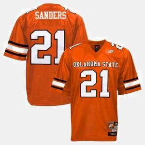#21 Men's Barry Sanders OSU Jersey College Football Orange