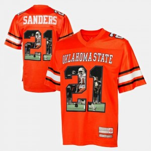 Player Pictorial For Men #21 Barry Sanders Oklahoma State Jersey Orange