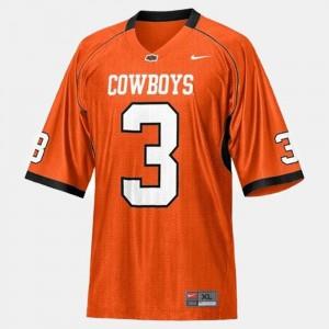 #3 Mens College Football Orange Brandon Weeden OSU Cowboys Jersey