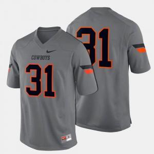 College Football #31 Men OSU Jersey Gray