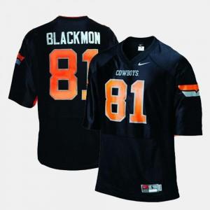 College Football Justin Blackmon OK State Jersey For Men Black #81