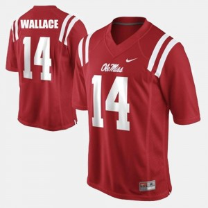 Red College Football For Men Bo Wallace Ole Miss Jersey #14
