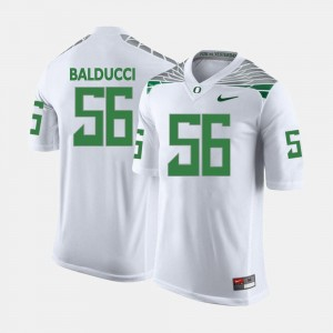 Alex Balducci Ducks Jersey White Men College Football #56