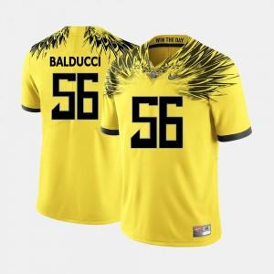Yellow For Men's College Football Alex Balducci UO Jersey #56