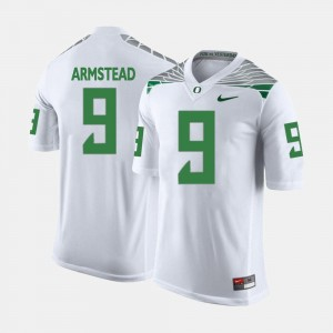 For Men's Arik Armstead Oregon Ducks Jersey College Football White #9