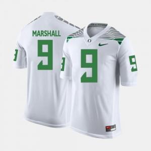 Byron Marshall Ducks Jersey #9 White College Football Men's
