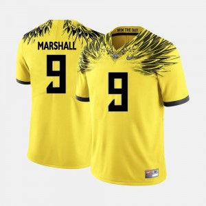 College Football Men's #9 Byron Marshall University of Oregon Jersey Yellow