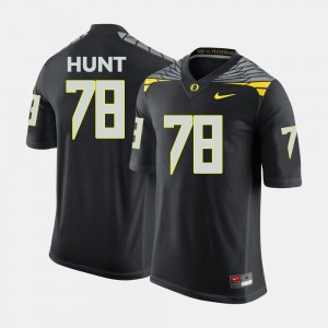College Football #78 Black Cameron Hunt Oregon Ducks Jersey Men's