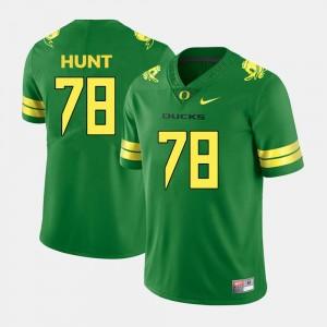 #78 Green College Football Cameron Hunt University of Oregon Jersey Men's