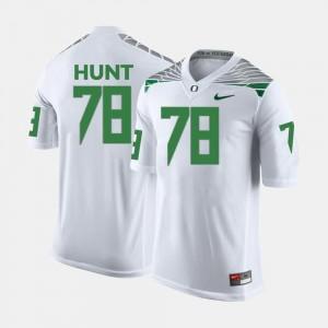 College Football #78 For Men's White Cameron Hunt Oregon Ducks Jersey